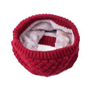 2017 Nueva Moda de Invierno de Las Mujeres de Punto Fleeced Snood Bufanda Cuello Engrosado Anillo de Algodón de Terciopelo Engrosado bufanda