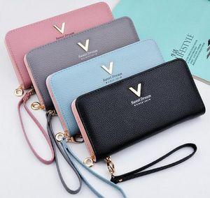 nuovo pacchetto bella signora caramelle colore portafoglio donna grazia litchi in pelle a grossa borsa moda di grande capacità con portafoglio lungo