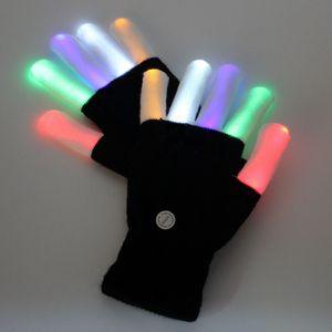 100pcs KTV Club Party Dance Halloween lampeggiante LED Flash Guanti Finger Light Up Glow guanti Fancy Dress Light Show Natale festivo