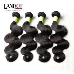 Comercio al por mayor 10 Bundles 1 KG sin procesar 8A Peruano malasio brasileño cuerpo onda Virgen Remy cabello humano teje Color Natural Dyeable