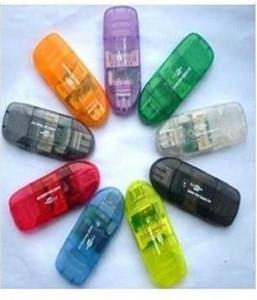 Blau USB2 0 Digital Mini Micro TF MMC SD SDHC Bis zu 64 GB Muti Speicherkartenleser Writer Connector Adapter Für Win 7 8 ME 2000 XP Bestellen $ 18no