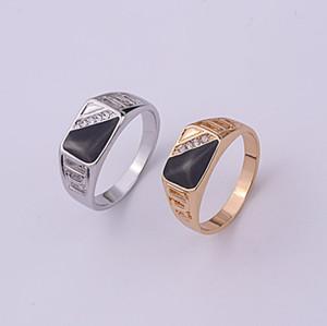 Nuovi monili di modo 925 Argento semplice Opal signore Retro punk anello Fit Pandora gioielli cubici creativo esplosione triangolo olio maschile anello
