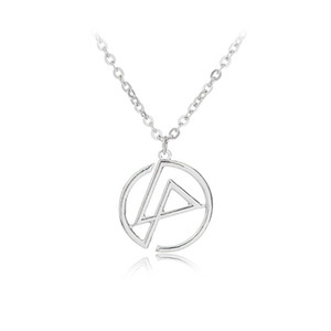 Moda Kolye Linkin park Kolye Bant Grubu Logosu Punk Gümüş Renk Kolye Takı Erkekler Ve Kadınlar Için