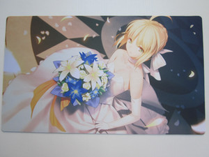 Saber playmat customised the Fate Stay Night (alias) card mat yugioh pad to make a custom delivery bag