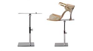 La migliore vendita multifunzione sandali display stand donne tacchi display rack rotante stainess acciaio uomini vestito scarpa titolare display 10pcs