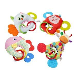 Wholesale-10pcs / lot Giraffe Monkey Owl Fish Animal Muñeca de peluche Suave Juguete de peluche Bebé Infant Toy Soft Doll