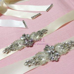 Düğün kemer Nedime Sashes Gelin Kristal Cam Boncuk Saten Kanat Yüksek Kalite Fildişi Ve Beyaz Gelinlik Kanat Kemerler Balo Elbise Kanat
