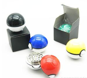 """pokeBall Grinder 2 """"Mon ball Meatl Herb Grinder Metallo in lega di zinco Plastica metallo smerigliatrici 3 parti Grinders Toy con confezione regalo 5 colori migliori"""