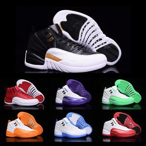 Zapatos al por mayor del envío de la gota de baloncesto Hombres Mujeres 12 zapatos XII zapatillas de deporte 2018 Nueva alta calidad del color barato Deportes Tamaño 5,5-13