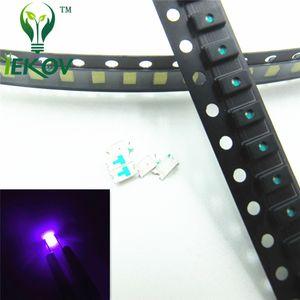 1000 adet 0603 SMD / SMT Mor / UV Yüksek Kalite LED SMD Çip lambası boncuk Ultra Parlak Işık Yayan diyot Araba DIY için Uygun