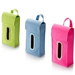 Al por mayor- Colgante Cuboid Dispensador de la Caja de Pañuelos Sólidos Car Home Room Facial Napkin Box Cover smt 83