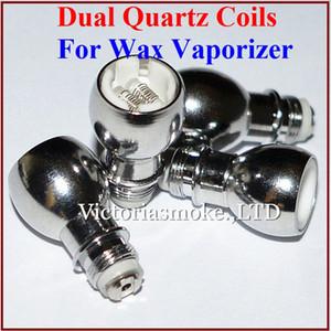 Wax Coils for Wax Vaporizer Tank Dual Wax Quartz Coils for Glass Globe Atomizer Wax Atomizer Tank 510 Thread Glass Globe Tank Coils eCigs