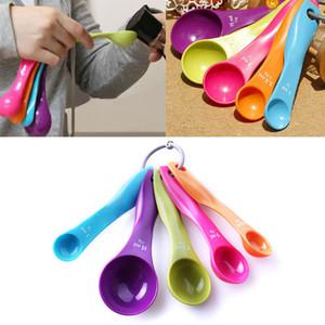 5pcs / set cucharas medidoras de la cocina cucharada taza de horno utensilio