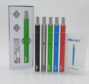 Hibron authentique à travers le kit ATB Kit Vaporizer E Cigarette Vape Kits avec 400mAh Preheat VV Battery 1.5ohm 0.5ml cartouche