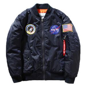 가을 - 비행 파일럿 재킷 코트 폭격기 MA1 남성 폭격기 재킷 자수 야구 코트 M-XXL