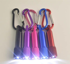 Лучший портативный мини светодиодный фонарик брелок алюминиевого сплава Факел с карабином кольцо брелки светодиодный мини фонарик Мини-Свет бесплатная доставка