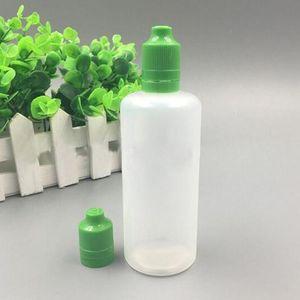 زجاجات DHL مجانا 500PCS 120ML E-سيج ELiquid بلاستيك القطارة شفافة PE E الخالي عصير زجاجة إثبات ملون الطفل العبث قبعات