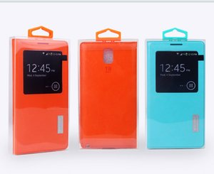 300 adet toptan özel logo toz geçirmez pvc boş plastik ambalaj kutusu renkli askı iphone 7 7 artı zte zmax pro z981 cep telefonu