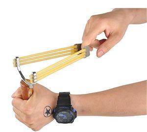 뜨거운 강력한 새총 알루미늄 합금 새총 위장 야외 촬영 투석기 사냥 촬영 스포츠 휴대용 내구성 활