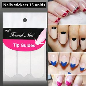 Nails Etiqueta Dicas Guia Francês Manicure Nail Art Decalques Forma Fringe Guias DIY Styling Ferramentas de Beleza