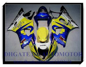 Iniezione 100% nuovissimo kit carenatura adatto per Suzuki GSXR1000 2003 2004 GSX-R1000 2003 2004 GSXR 1000 03 04 # LW853 BLU GIALLO
