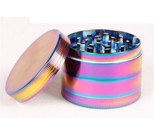 50mm 4pc Metal CNC SharpStone Grinder 4layer zicn Alloy rainbow Herb grinder Fumar tabaco