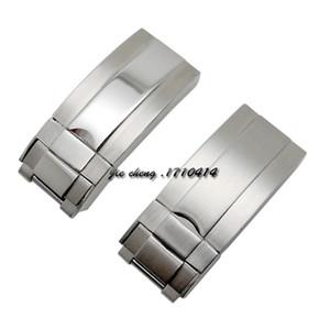 16mm x 9mm NUOVA GRASPA IN ACCIAIO INOSSIDABILE DI ALTA QUALITÀ Cinturino di distribuzione della fibbia del cinturino per le fasce