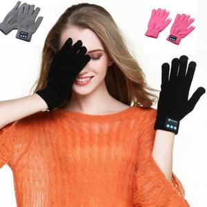 3 цвета сенсорный Bluetooth перчатки зимние сенсорные перчатки трикотажные варежки унисекс мобильный телефон беспроводной смарт-гарнитура 2 шт. / пара CCA7464 300pair