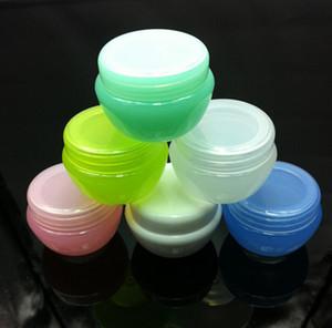 50 stücke pilz cremetopf, leere kunststoffbehälter für kosmetische verpackung mutil farbe 5g
