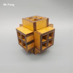 مضحك الصينية التقليدية خشبية الترفيه اللعب الكبار نافذة لغز كونغ مينغ قفل
