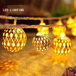 Рождественский свет праздник свет Марокканский шар светодиодные полосы 20 лампы шары / набор светодиодные строки для свадьбы Фея огни рождественские украшения