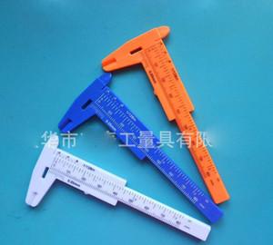 Herramientas de medición de plástico Calibradores a mini vernier 1 mm / mini Regla Micrómetro Calibre 80 mm Longitud Calibradores a vernier Mediciones para regalo de promoción