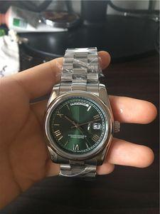 097 izle Bilek erkekler paslanmaz çelik Band Yeşil Yüz izle mens için sıcak satış Erkek saatler