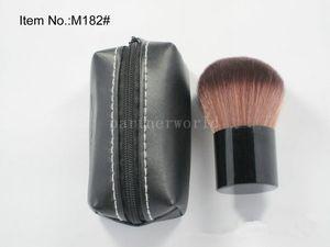 Rough Brush Beleza Kabuki Maquiagem Cosmestic Grande Rosto Pó Mineral Fundação Pincel De Blush com Bolsa De Couro 200 pcs / ot