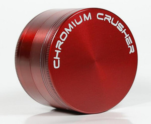 DHL ücretsiz CHROMIUM CRUSHER logosu 40mm 4 parça zicn alaşım ot değirmeni tütün sigara bitkisel sigara değirmenleri toptan