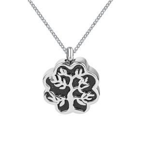 Lily Cremation Jewelry Black Tree Urn Necklace Memorial Ash Keepsake Colgante con bolsa de regalo Embudo y cadena