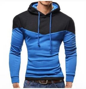 New Spring Fashion Contract Color Hoodies Sweatshirts Men Outerwear Colorful Hoodies Clothing Men Suit 6 Colors