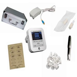 Newest Tattoo Machines Digital Intelligent Permanent Makeup eyebrow lip machine Kit swiss motor gun + power supply + needles