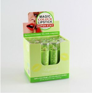 Newest Makeup new BRAND Lip Balm Green Change Color To Red Lipstick Moisturizer Change Color Lipstick
