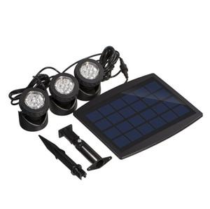18 Led Spot Işık Sensörü RGB Sualtı Işık Spotlight Havuz Göletler Lambası Açık Yard Yolu Bahçe Çim Işıklar Lamba Powered 3 * 6 LED Güneş