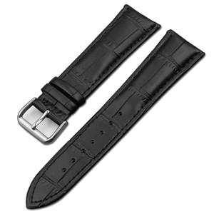 Bracelet de montre en cuir véritable de haute qualité 18mm 20mm Bracelet de remplacement interchangeable Noir Marron Imperméable