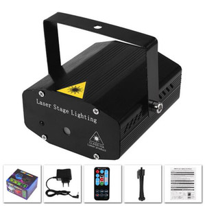 YON Mini LED Laser Pointer Disco Stage Light Party Pattern Lighting Projector Show IR Remote RG Laser Projector Lights