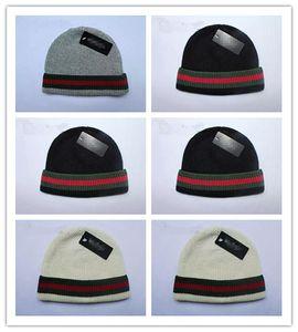 En Çok Satan Sonbahar Kış Unisex yün şapka moda casual marka skullies Beanies Erkekler ve kadınlar Için Çizgili tasarım Ücretsiz Kargo