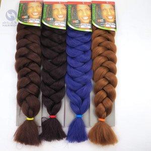 Chegada nova trança de cabelo exprssion super jumbo trança afro extensões de cabelo tranças de cabelo sintético tece 12 cores disponíveis