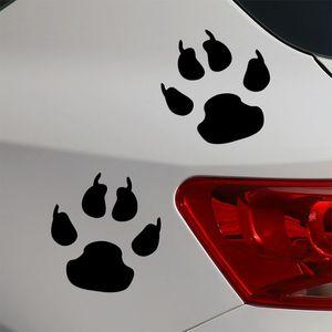 un paio di materiale riflettente adesivo auto orso zampa 11 * 10 cm
