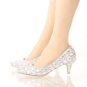 العروس الكريستال أحذية حجر الراين أحذية الزفاف الفضة عالية الكعب منصة الأحذية الأحداث النساء اليدوية أزياء حزب اللباس أحذية