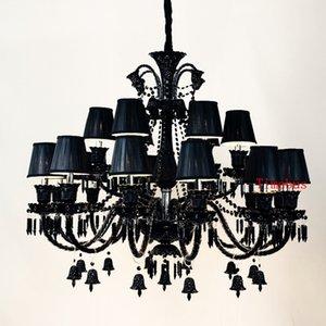 النمط الأوروبي كريستال الثريا في غرفة المعيشة مصابيح بسيطة الحديثة مصباح قلادة الأنوار الرجعية الإبداعية مطعم ضوء شمعة