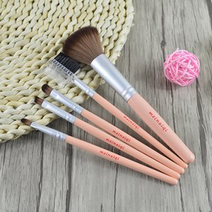 5 Adet Makyaj Fırçalar Set ahşap saplı makyaj fırça göz farı Fırça allık fırçası kirpik fırça dudak fırçası kaş fırçası ücretsiz kargo