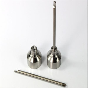 Universal titanium carb cap with titanium dabble on top with one angled hole around the cap for Smoking titanium dabber