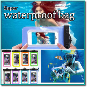 Custodia subacquea trasparente impermeabile Custodia impermeabile Custodia subacquea adatta a tutti i telefoni cellulari con Iphone Samsung da 5,8 pollici